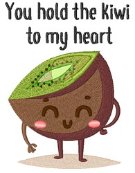 Kiwi To My Heart embroidery design