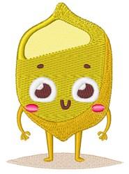 Happy Face Lemon embroidery design