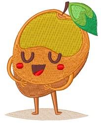 Happy Face Mango embroidery design