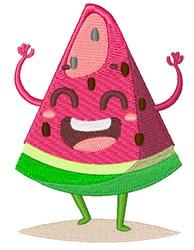Happy Face Watermelon embroidery design