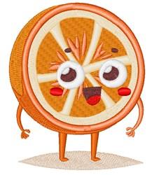 Happy Face Orange embroidery design
