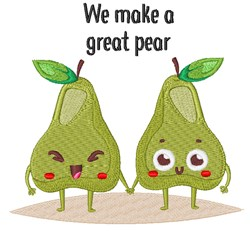 We Make A Great Pear embroidery design