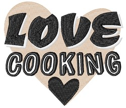 Love Cooking embroidery design