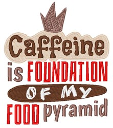Caffeine Food Pyramid embroidery design