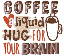 Brain Hug embroidery design