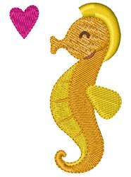 Happy Seahorse embroidery design