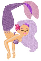 Purple Mermaid embroidery design