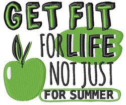 Get Fit For Life embroidery design