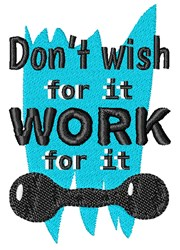 Work For It embroidery design