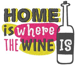 Where Wine Is embroidery design