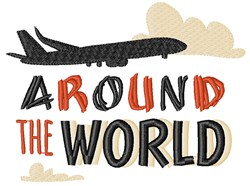 Around The World embroidery design