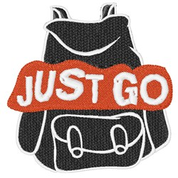 Just Go embroidery design
