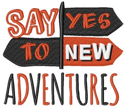New Adventures embroidery design