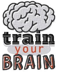 Train Your Brain embroidery design
