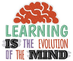 Learning Is Evolution embroidery design
