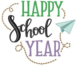 Happy School Year embroidery design