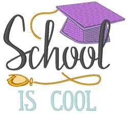 School Is Cool embroidery design