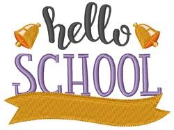 Hello School embroidery design