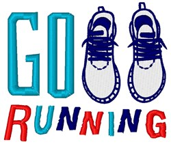Go Running embroidery design