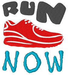 Run Now embroidery design