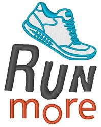 Run More embroidery design