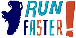 Run Faster embroidery design