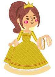 Golden Princess embroidery design