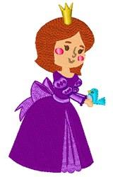 Purple Princess embroidery design