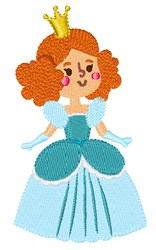 Blue Princess embroidery design