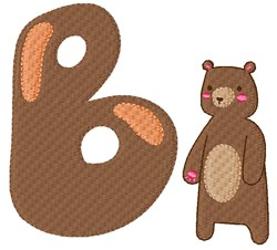 B For Bear embroidery design