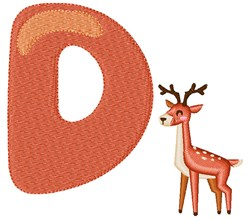 D For Deer embroidery design