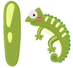 I For Iguana embroidery design