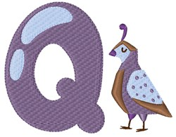 Q For Quail embroidery design