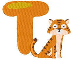T For Tiger embroidery design