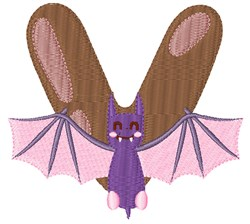 V For Vampire Bat embroidery design