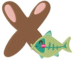 X For X-Ray Fish embroidery design