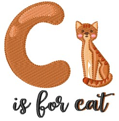 C Is For Cat embroidery design