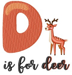 D Is For Deer embroidery design