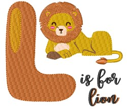 L Is For Lion embroidery design