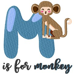 M Is For Monkey embroidery design