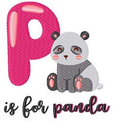 P Is For Panda embroidery design