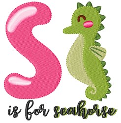 S Is For Seahorse embroidery design