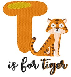 T Is For Tiger embroidery design