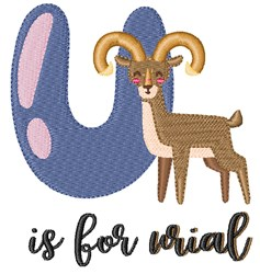 U Is For Urial embroidery design