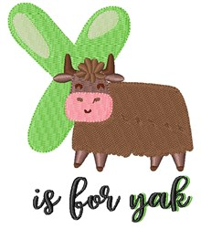 Y Is For Yak embroidery design