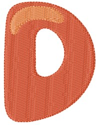 Bubble Letter D embroidery design