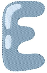 Bubble Letter E embroidery design