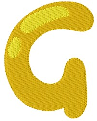 Bubble Letter G embroidery design