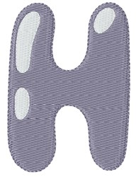 Bubble Letter H embroidery design