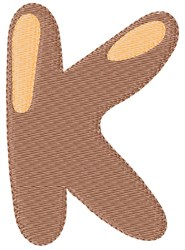 Bubble Letter K embroidery design